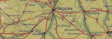 map of poitiers poitou charentes berry vendee la rochelle limousin poitiers