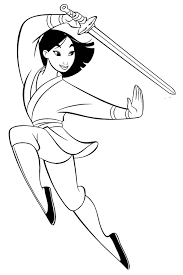 mulan coloring pages holding umbrella coloringstar