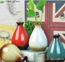 Small Decorative Vases Home Decor Vases Miz Home Green Bud Vase Ceramic Cactus Shape