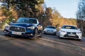 lexus vs audi battle of the luxury sport coupes infiniti q60 vs lexus rc vs