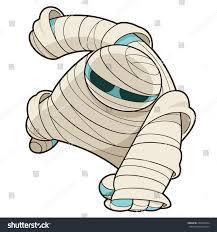 vector illustration scary halloween mummy bandage stock vector