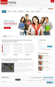 design online education this website layout design for demo template for online education