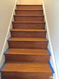 How To Install Laminate Floor On Stairs Refinishing Our Farmhouse Stairs Lehman Lane