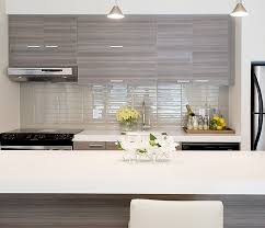 Jessica Kelly Design Fabulous Contemporary Kitchen With Glossy - Contemporary backsplash