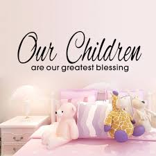 online shop children is our greatest blessing wall stickers home