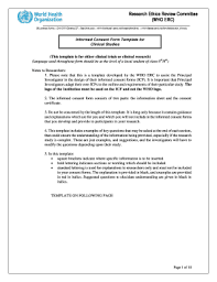 informed consent form templates fillable u0026 printable samples for
