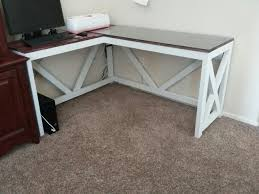 rustic l shaped desk l shaped desk farmhouse rustic my hubby made me arnold s wood