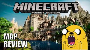 Giant Map Giant Castle Minecraft Pe Map Review Youtube