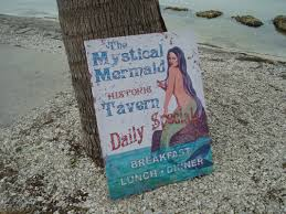beach signs home decor large 2 foot mystical mermaid tavern rustic canvas beach bar sign