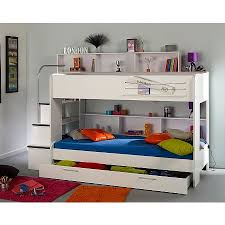 White Bunk Bed With Stairs Elliott Bunk Bed With Trundle White Boys Bedroom Ideas