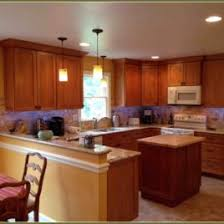 Kitchen Cabinet Companies Rustic Stained Knotty Alder Kitchen Cabinet Companies In Corner