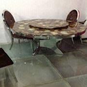 Stainless Steel Dining Table New Design C233 Marble Round Stainless Steel Dining Table Global