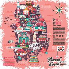 Korea Map Asia by South Korea Travel Map Stock Vector Art 499338976 Istock