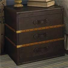 steamer trunk side table 3 drawer steamer trunk side table 2 colors by shadesoflight com