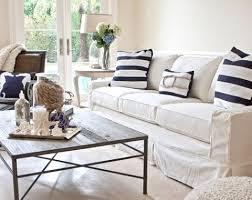 Modern Slipcovered Sofa by 7 Coastal Decorating Tips