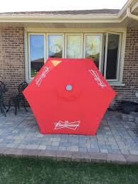 Budweiser Patio Umbrella Budweiser Patio Umbrella Sign Collectibles In Tinley Park
