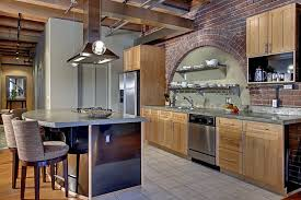 Kitchen Countertops Seattle - craftsman kitchen with limestone tile floors u0026 flat panel cabinets