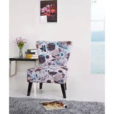 Printed Accent Chair Container Furniture Direct Cora Contemporary Floral Print Fabric