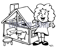 free drawing of dollhouse bw from the category parents u0026 kids