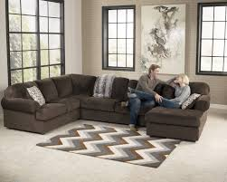 Living Room With Sectional Jessa Place Chocolate Sectional Right Side Chaise Living