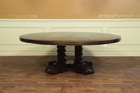 Round Dining Table For 8 With Lazy Susan Large Round Walnut Dining Table Rustic Casual Finish