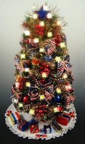 christmas small christmas treerationsrated patriotic tabletop