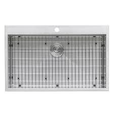 Houzer Ctb 2385 by Ruvati Rvh8000 Overmount 16 Gauge 33 In Kitchen Sink Single Bowl