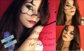 Halloween Makeup Clown Faces by Gangster Clown Halloween Makeup Recreation Cairli C Youtube
