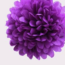 ez fluff 16 plum tissue paper pom poms flowers balls decorations