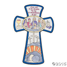 color your own last supper cross cutouts 12pk party supplies