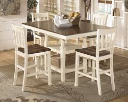 whitesburg pub table u0026 4 bar stools d583 224 4 32 dining room