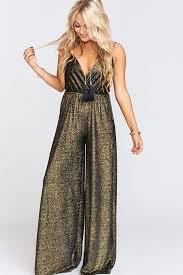 gold jumpsuit jagger jumpsuit in golden glam by me your mumu rental