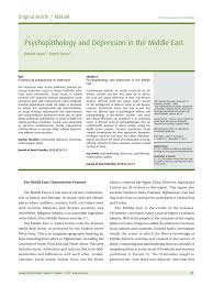 psychopathology and depression in the middle east pdf download