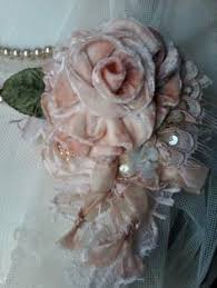 Vintage Velvet Flowers - velvet ribbon rose jennelise meadow street roses i love pretty