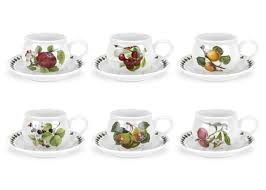 tea cup set portmeirion pomona set of 6 breakfast cups and saucers