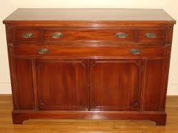 bernhardt duncan phyfe mahogany dining room set 6 drawer 2 door