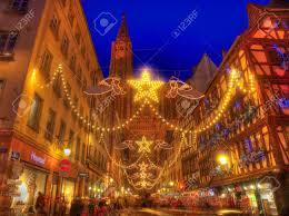strasbourg december 12 2012 the crowded rue merciere