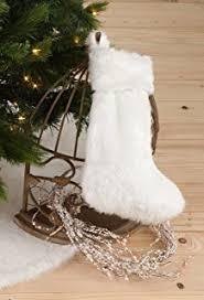 fur christmas aerwo faux fur christmas tree skirt 48 inches snowy