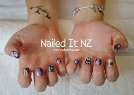 doctor who nail art tardis 11th doctor bad wolf u0026 dalek