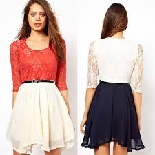 2016 women u0027s plus size lace chiffon mini belt dresses fashion