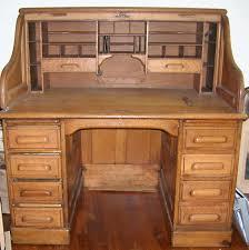 Oak Roll Top Secretary Desk by Next O U0027leary Antiques Auction