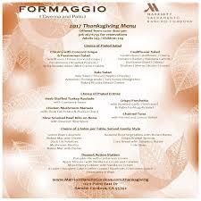 thanksgiving dinner formaggio