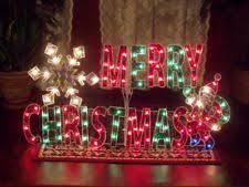 lighted merry christmas yard sign holographic christmas ebay