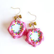 rockabilly earrings rockabilly earrings pink birthday cake earrings cakes earrings