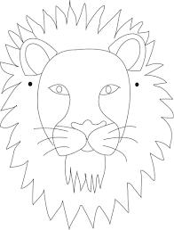 lion mask lion mask printable coloring page for kids