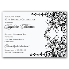 black and white birthday invitation template free