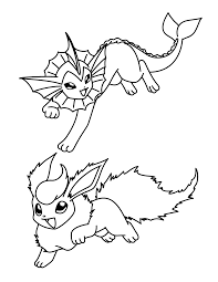 pokemon flareon coloring pages coloring home