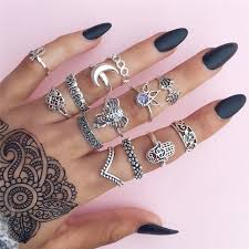 midi rings set 13pcs set fashion finger rings set women vintage midi rings