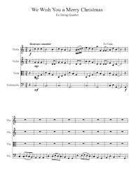 we wish you a merry for string quartet sheet for
