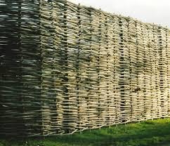 continuous hazel wattle fencing house pinterest wattle fence